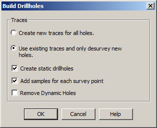 Build Drillholes