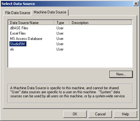 Select Data Source RM